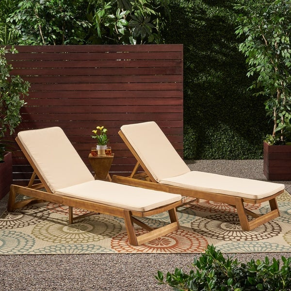Nadine Chaise Lounge Cushions (Set of 2) by Christopher Knight Home. Opens flyout.