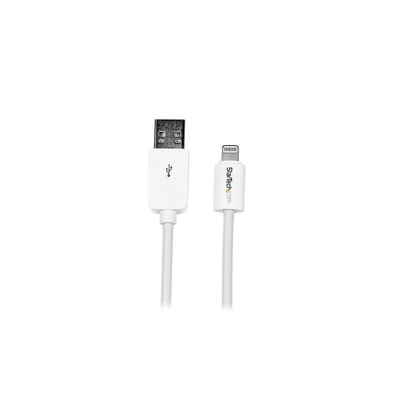 StarTech USBLT2MWW StarTech.com 2m Long Apple 8-Pin Charge and Sync Lightning Connector to USB Cable for iPads