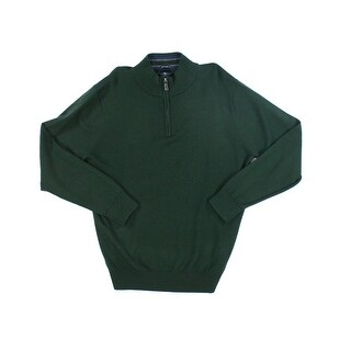 Tailorbyrd NEW Green Mens Size XL 1/2 Zip Wool Longsleeve Sweater