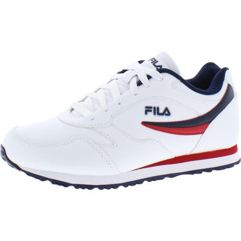 Fila Womens Classico 18 Sneakers Faux Leather Performance