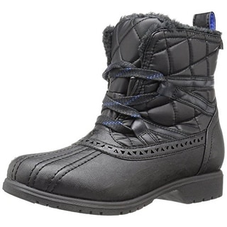 Keds Womens Snowday Snow Boots Quilted Faux Shearling Lining - 7 medium (b,m)