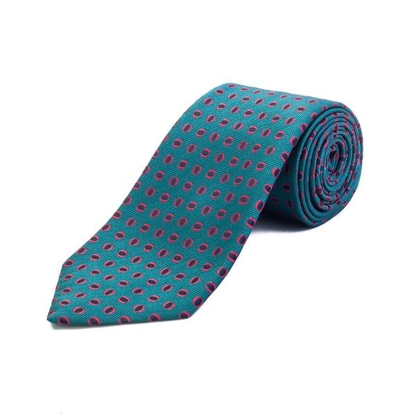 843fa521 Ermenegildo Zegna Men's Silk Geometric Pattern Tie Blue - No Size