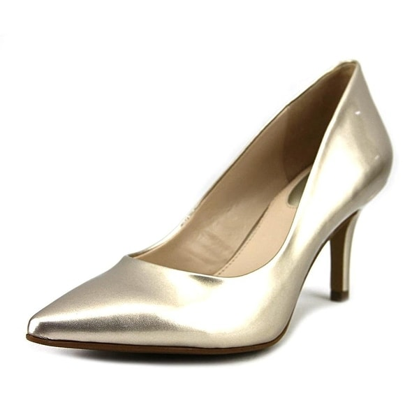 Alfani Jeules Women Pointed Toe Suede Gold Heels