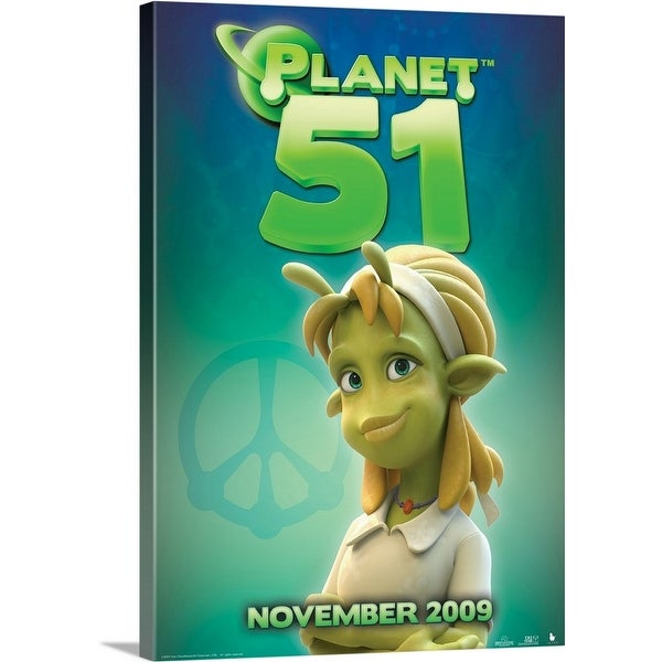 """""""Planet 51 - Movie Poster"""" Canvas Wall Art"""