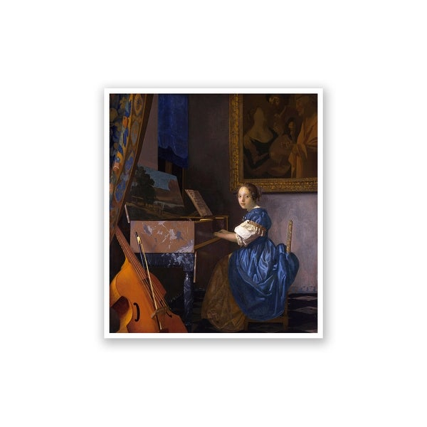 A Young Woman Seated at A Virginal - Johannes Vermeer Fine Art Collections Matte Poster 21x24