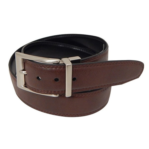 Danbury Western Belt Mens Reversible Leather Feather Brown