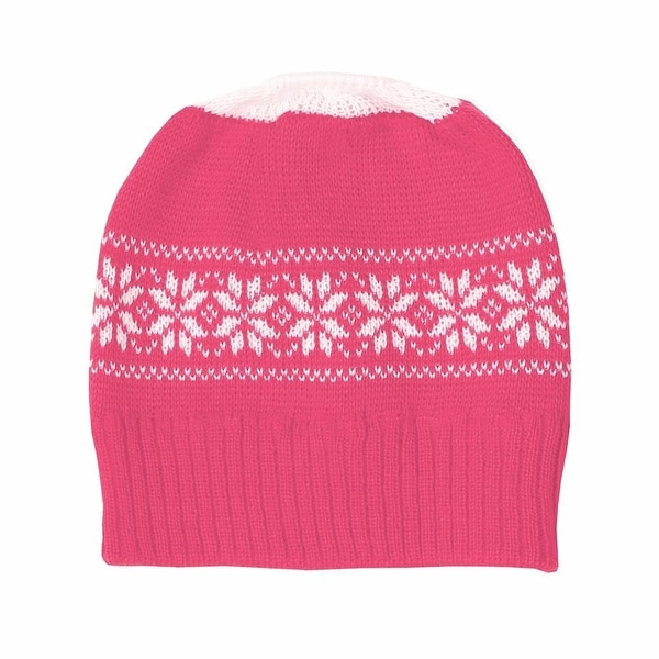8e138864 Shop Women's Ponytail Winter Knit Hat - Pink - Cold Weather Beanie Ski Cap  - One Size - On Sale - Free Shipping On Orders Over $45 - Overstock -  15950229