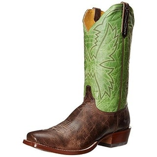 Cinch Mens Nate Leather Textured Cowboy, Western Boots - 10 extra wide (e+, ww)