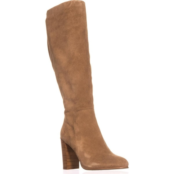 Kenneth Cole New York Justin Heeled Knee High Dress Boots, Desert