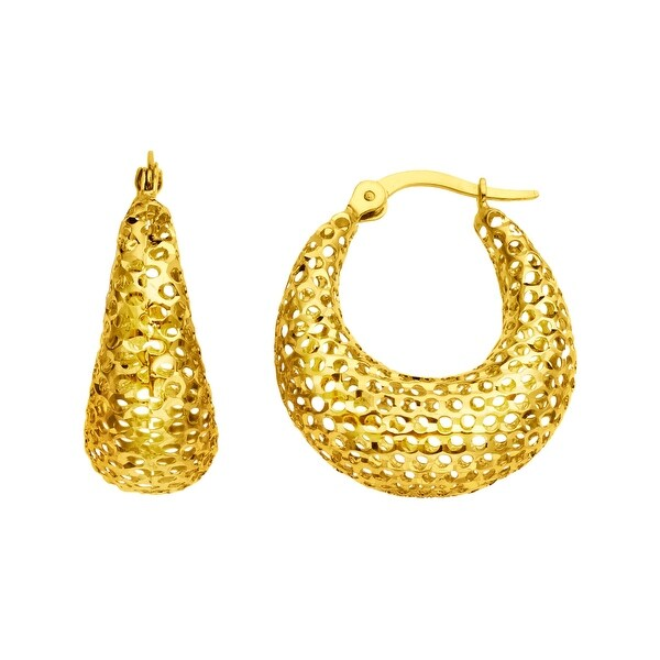 Eternity Gold Mesh Hoop Earrings in 14K Gold