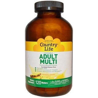Country Life Vitamins Adult Chewable Multiple 120 Tablet