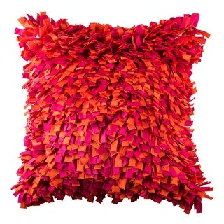 100% Handmade Imported Into the Flame Pillow Cover, Shades of Red and Purple