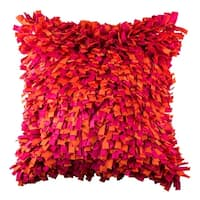100% Handmade Imported Into the Flames Throw Pillow Cover, Orange and Pink