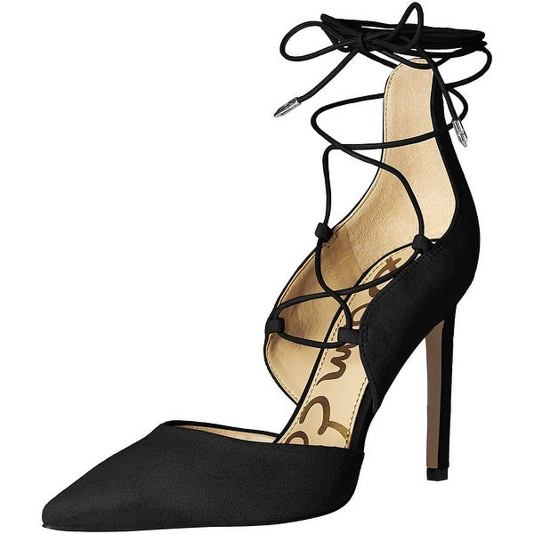 9e1c15482 Shop Sam Edelman Womens helaine Pointed Toe Ankle Wrap Classic Pumps - 10 -  Free Shipping Today - Overstock - 25979011