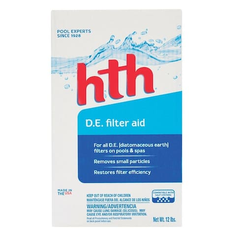 Hth 67072 Diatomaceous Earth Filter Aid, 12 lb
