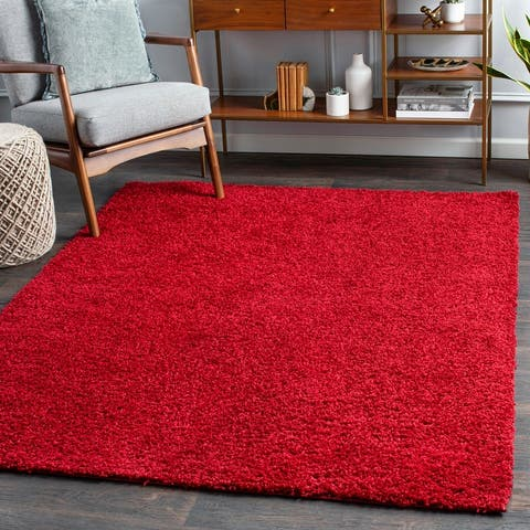 Dawsen Solid Plush Area Rug