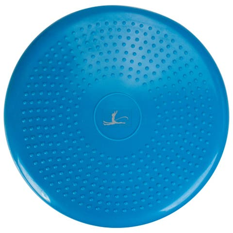 """13"""" Blue Inflated Plastic Balance Exercise Disc"""