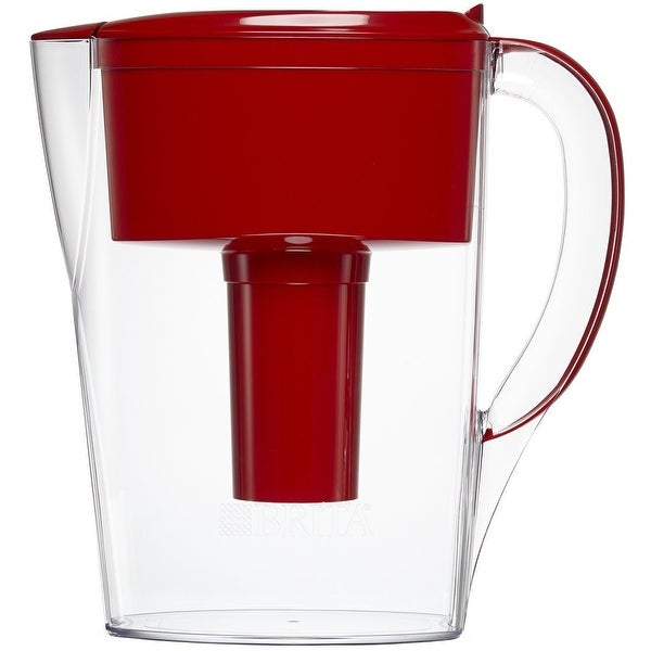 Brita 36035 Space Saver Water Filter Pitcher, 6 Cup, Red