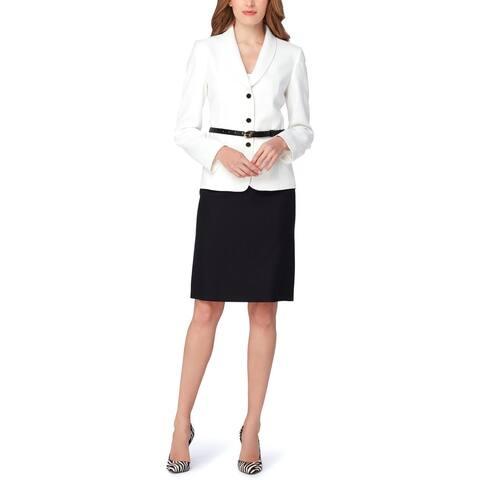 Tahari ASL Womens Skirt Suit Four-Button Business - 14