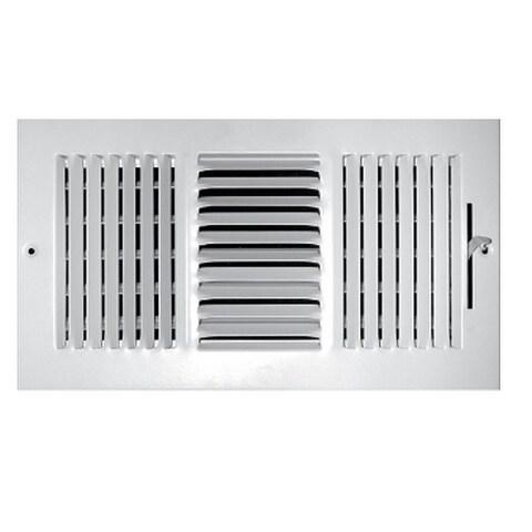 "Truaire C103M 12X06 3-Way Sidewall Ceiling Register, 12"" x 6"""
