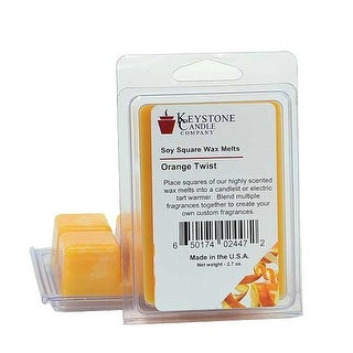 Orange Twist Soy Tarts 3.5 in. long x 2.5 in. wide x 1 in. thick Pack of 3