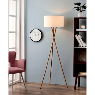 Link to Archiology Wooden Tripod Floor Lamp,Mid-Century Modern Standing Lamp Similar Items in Floor Lamps