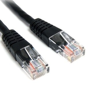 StarTech Black Molded RJ45 UTP Cat 5e Patch Cable - 2 Feet (M45PATCH2BK)