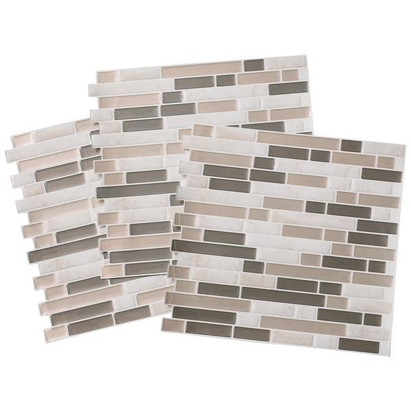 Tack Tile Peel Stick Vinyl Backsplash Pack Of 3 Overstock 21930782