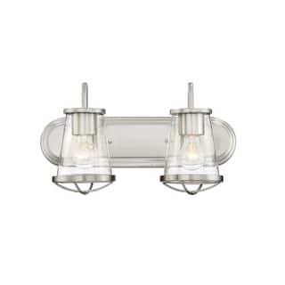 """Designers Fountain 87002 Darby 2 Light 18"""" Wide Bathroom Vanity Light with Seedy Glass Shade https://ak1.ostkcdn.com/images/products/is/images/direct/d739c28b194327df3d63bbfe82843813f80d46a7/Designers-Fountain-87002-Darby-2-Light-18%22-Wide-Bathroom-Vanity-Light-with-Seedy-Glass-Shade.jpg?impolicy=medium"""