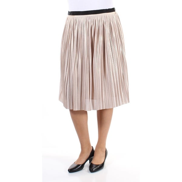 Shop TOMMY HILFIGER Womens Gold Pleated Shimmer Knee Length A-Line Cocktail  Skirt Size  12 - Free Shipping On Orders Over  45 - Overstock.com - 21391093 de7fdc4cd