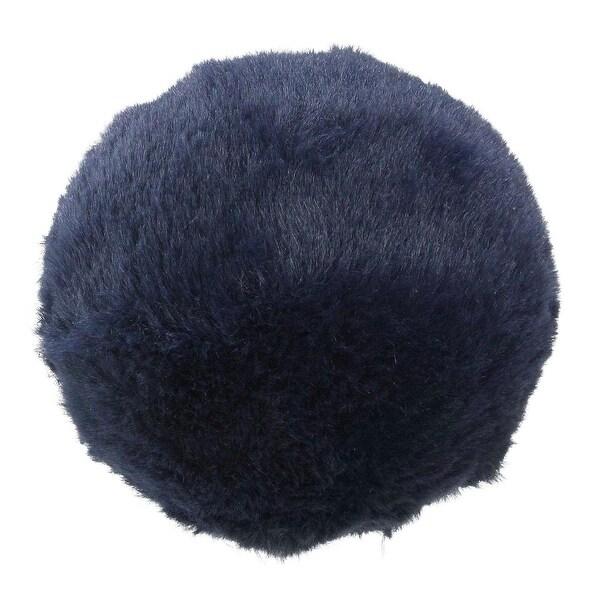 "4.5"" Navy Blue Faux Fur Ball Christmas Ornament Decoration"