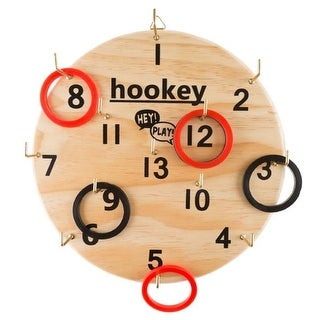 Hookey Ring Toss Game Set for Outdoor or Indoor Play, Safe