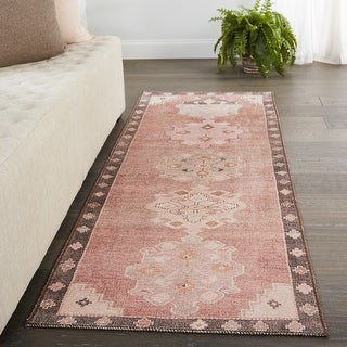 Link to Vibe by Jaipur Living Chilton Medallion Pink/ Brown Area Rug Similar Items in Rugs