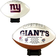 New York Giants Embroidered Logo Signature Series Football