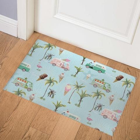 CALLE PALMA ICE CREAM TRUCK Indoor Floor Mat By Kavka Designs
