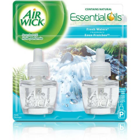 Air Wick Scented Oil Air Freshener Refill Twin Pack, Fresh Waters 2 ea