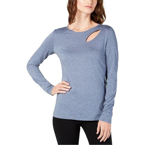 I-N-C Womens Cutout Basic T-Shirt