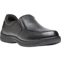 Propet Men's Cruz II Slip On Black Full Grain Leather