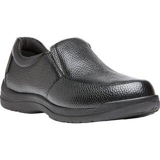 Propet Men's Cruz II Slip On Black Full Grain Leather