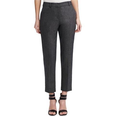 DKNY Womens Textured Dress Pants, black, 16