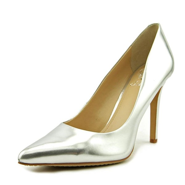 Vince Camuto Kain Women Pointed Toe Leather Silver Heels