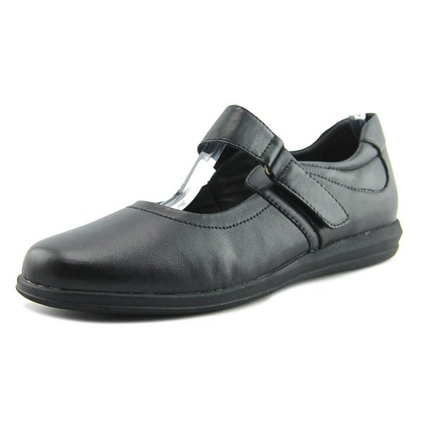 David Tate Baja Women Round Toe Leather Black Mary Janes