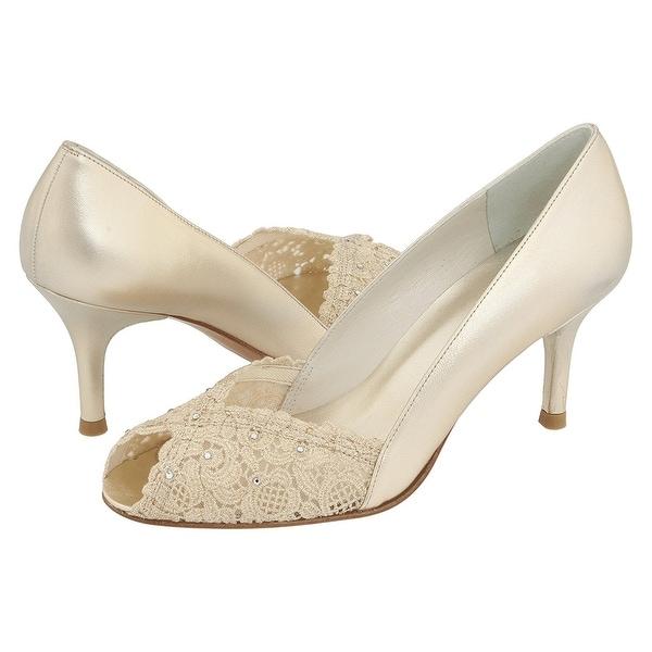 Stuart Weitzman NEW Gold Women's Shoes Size 7.5N Chantelle Pump