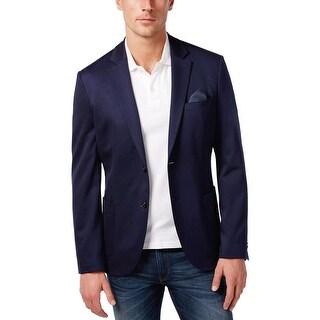 Michael Kors Soft Construction Navy Blue Sportcoat Blazer 44 Long 44L