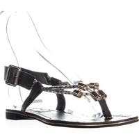 Steve Madden Foolish Flat Buckle Sandals, Black Multi