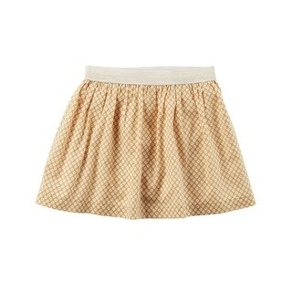 Carter's Little Girls' Floral Metallic Waist Skirt, 5-Toddler - GOLD