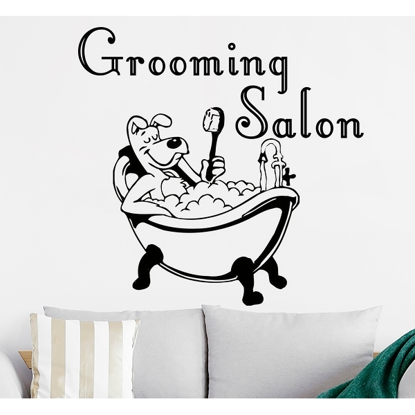 Dog Grooming Wall Decal, Pet Grooming Salon Vinyl Sticker, Puppy Pet Shop Decal, Grooming salon Vinyl Sticker. Opens flyout.