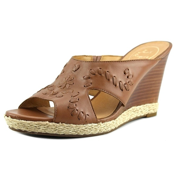Jack Rogers Sophia Women Open Toe Synthetic Tan Wedge Sandal