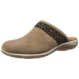 Acorn Womens Vista Suede Casual Clogs - 8 medium (b,m)