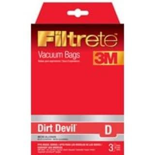 Filtrete 65701A-6 Vacuum Cleaner Bag, Dirt Devil Style D